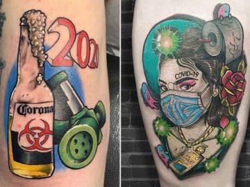 Algumas pessoas estão fazendo tatuagens inspiradas no covid-19 (21 fotos) 34