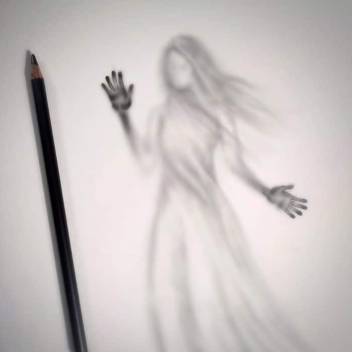 Artista cria desenhos assombrosos que parecem ter vindo do além (28 fotos) 6