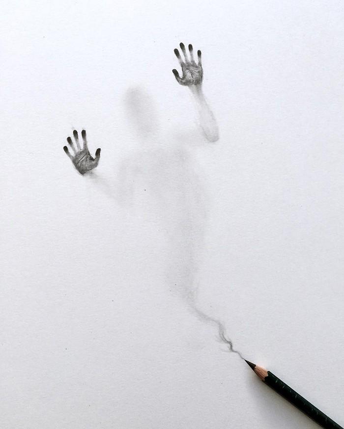 Artista cria desenhos assombrosos que parecem ter vindo do além (28 fotos) 13