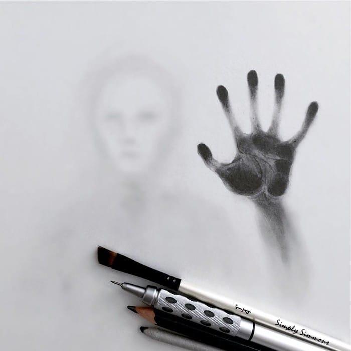 Artista cria desenhos assombrosos que parecem ter vindo do além (28 fotos) 23