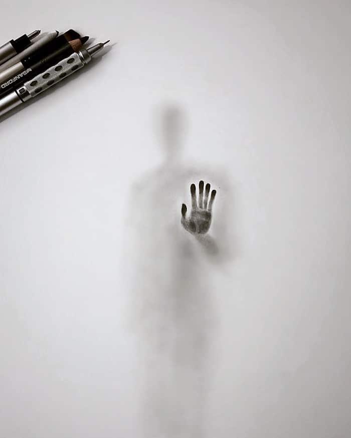 Artista cria desenhos assombrosos que parecem ter vindo do além (28 fotos) 29