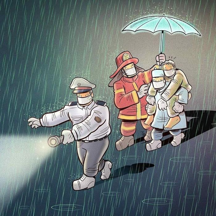 Artista iraniano mostra a dura realidade dos médicos durante surto de coronavírus (29 fotos) 4