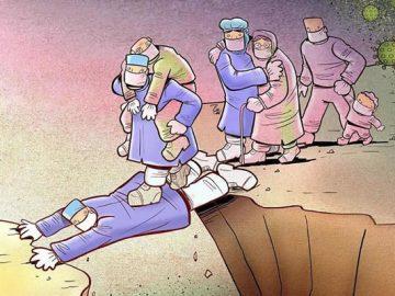 Artista iraniano mostra a dura realidade dos médicos durante surto de coronavírus (29 fotos) 9