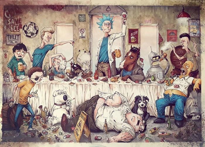 Artista reimagina personagens da cultura pop em ilustrações de estilo sombrio e sinistro (30 fotos) 5