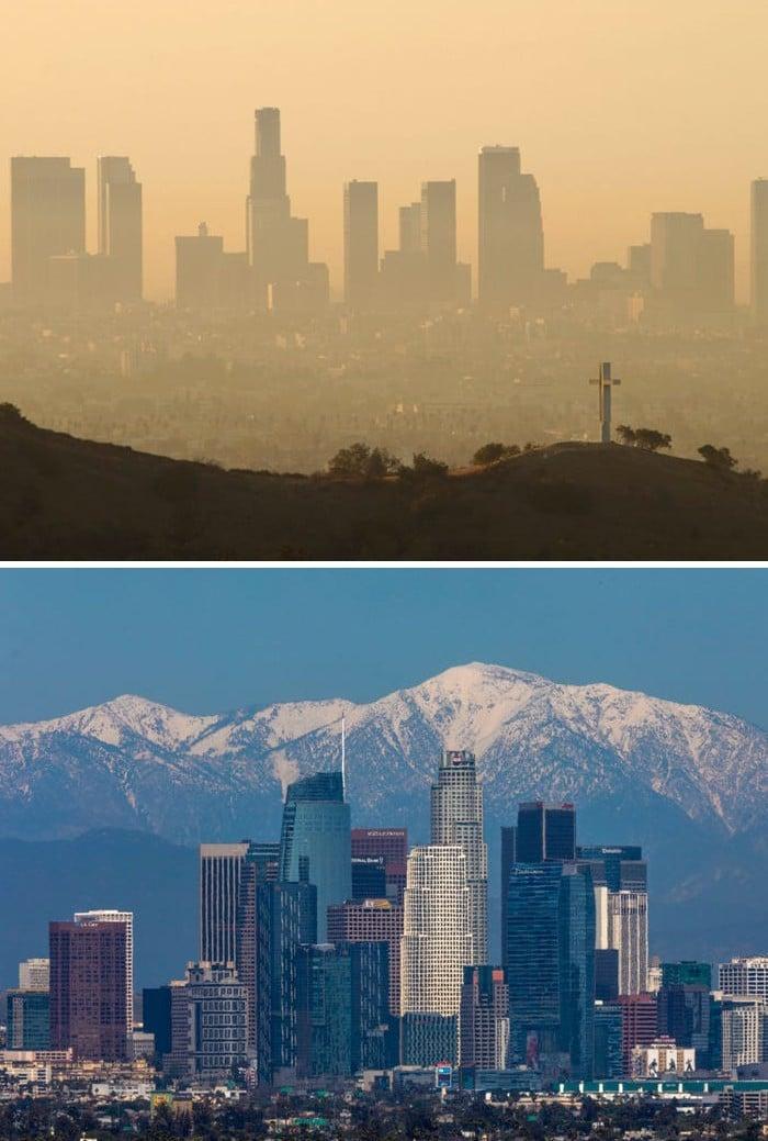 11 comparações antes e depois mostrando o efeito positivo da quarentena na poluição 3