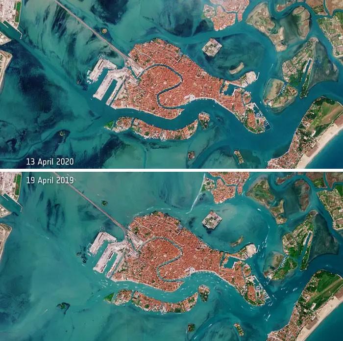 11 comparações antes e depois mostrando o efeito positivo da quarentena na poluição 6