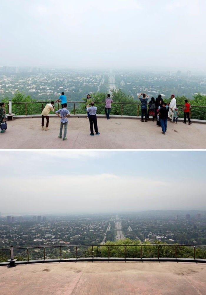 11 comparações antes e depois mostrando o efeito positivo da quarentena na poluição 12