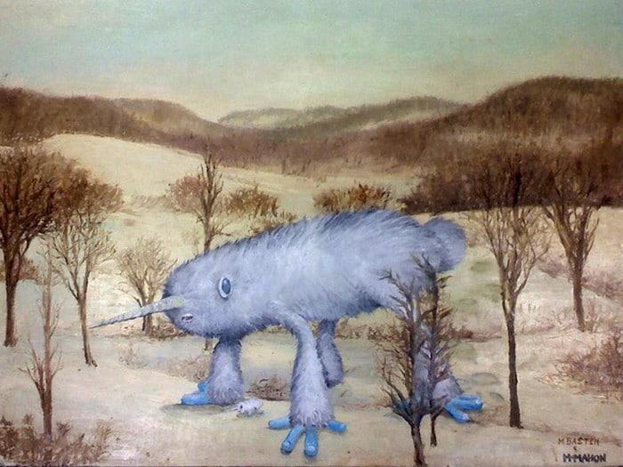 Este artista adiciona monstros às pinturas de brechós, e é hilário (21 fotos) 4