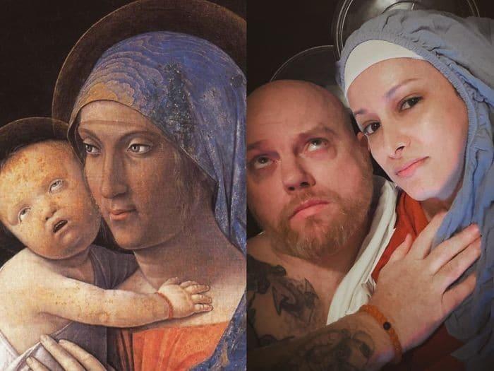 40 pessoas criativas que recriaram pinturas famosas com coisas que encontraram em casa 24