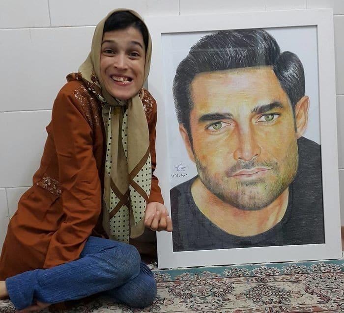 35 retratos incríveis desta artista iraniana com deficiência que usa apenas o Pé 23