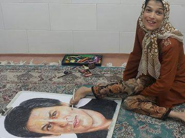 35 retratos incríveis desta artista iraniana com deficiência que usa apenas o Pé 5