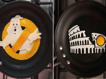 Um artista do México usa uma panela como tela e cria arte a partir de ovos (30 fotos) 2