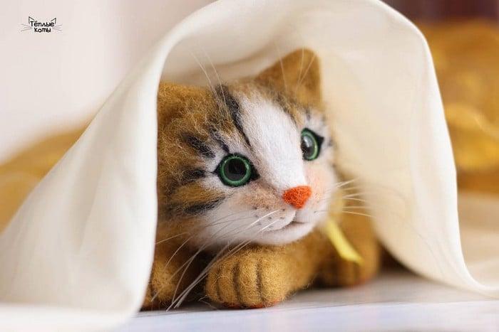 Artista russa cria gatinhos de feltro que parecem ter saído de um conto fada (32 fotos) 2