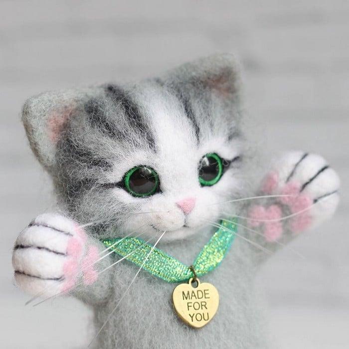Artista russa cria gatinhos de feltro que parecem ter saído de um conto fada (32 fotos) 3