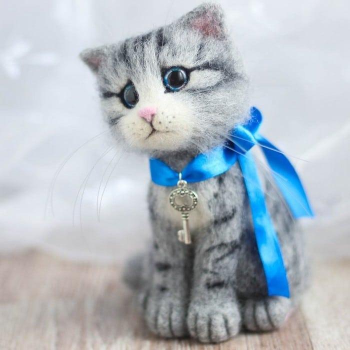 Artista russa cria gatinhos de feltro que parecem ter saído de um conto fada (32 fotos) 4