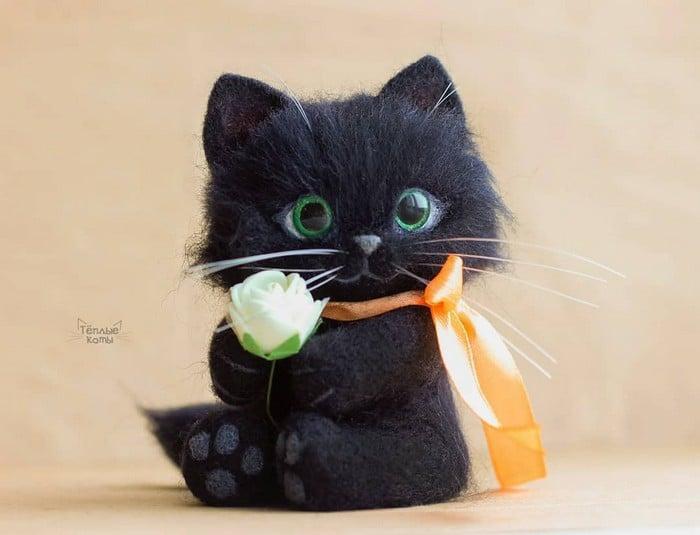 Artista russa cria gatinhos de feltro que parecem ter saído de um conto fada (32 fotos) 5