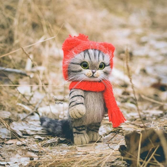 Artista russa cria gatinhos de feltro que parecem ter saído de um conto fada (32 fotos) 7