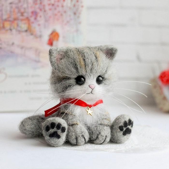 Artista russa cria gatinhos de feltro que parecem ter saído de um conto fada (32 fotos) 8