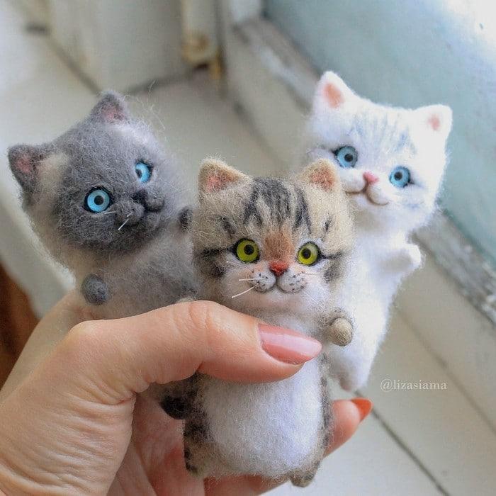 Artista russa cria gatinhos de feltro que parecem ter saído de um conto fada (32 fotos) 9