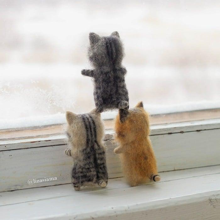 Artista russa cria gatinhos de feltro que parecem ter saído de um conto fada (32 fotos) 10