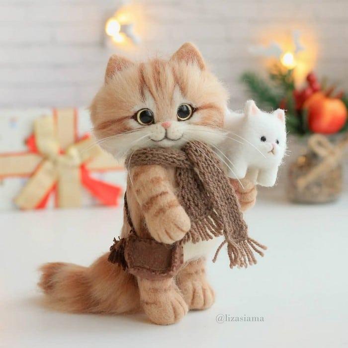 Artista russa cria gatinhos de feltro que parecem ter saído de um conto fada (32 fotos) 12