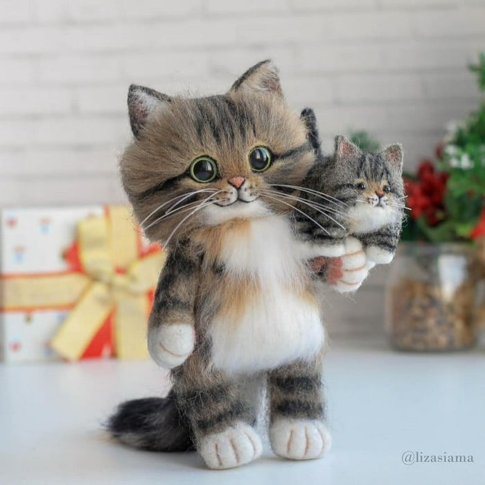 Artista russa cria gatinhos de feltro que parecem ter saído de um conto fada (32 fotos) 13