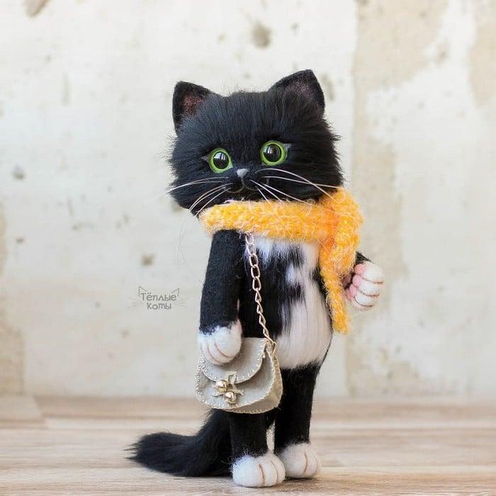 Artista russa cria gatinhos de feltro que parecem ter saído de um conto fada (32 fotos) 15