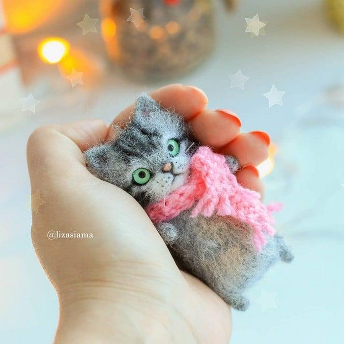 Artista russa cria gatinhos de feltro que parecem ter saído de um conto fada (32 fotos) 16