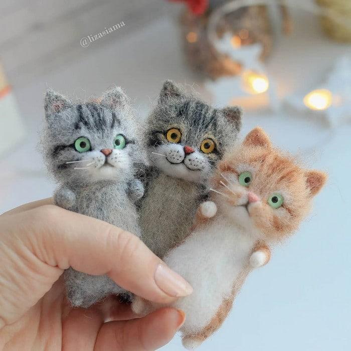 Artista russa cria gatinhos de feltro que parecem ter saído de um conto fada (32 fotos) 17