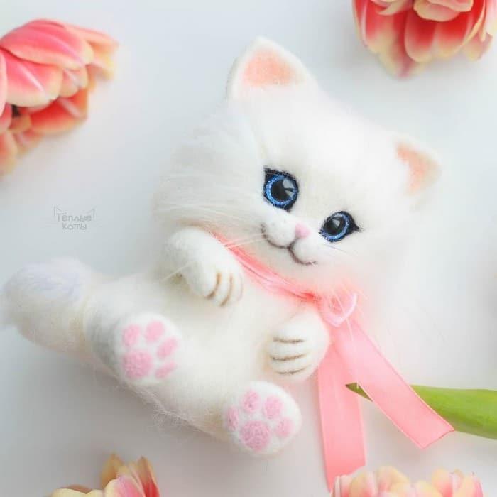 Artista russa cria gatinhos de feltro que parecem ter saído de um conto fada (32 fotos) 18