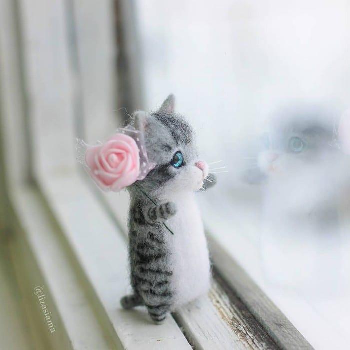 Artista russa cria gatinhos de feltro que parecem ter saído de um conto fada (32 fotos) 19