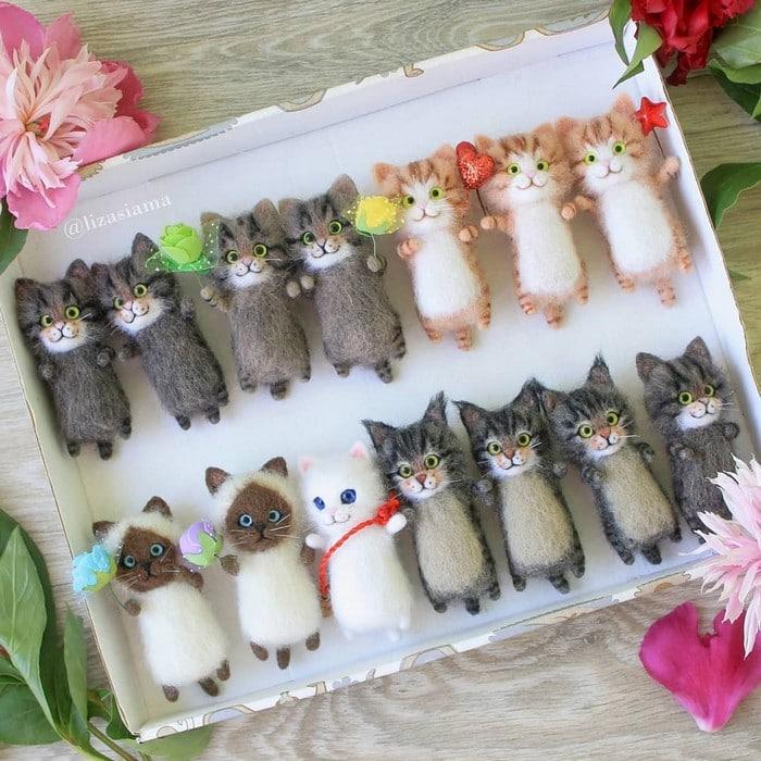 Artista russa cria gatinhos de feltro que parecem ter saído de um conto fada (32 fotos) 20