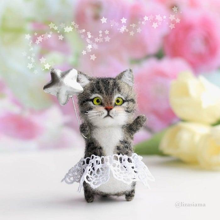Artista russa cria gatinhos de feltro que parecem ter saído de um conto fada (32 fotos) 24