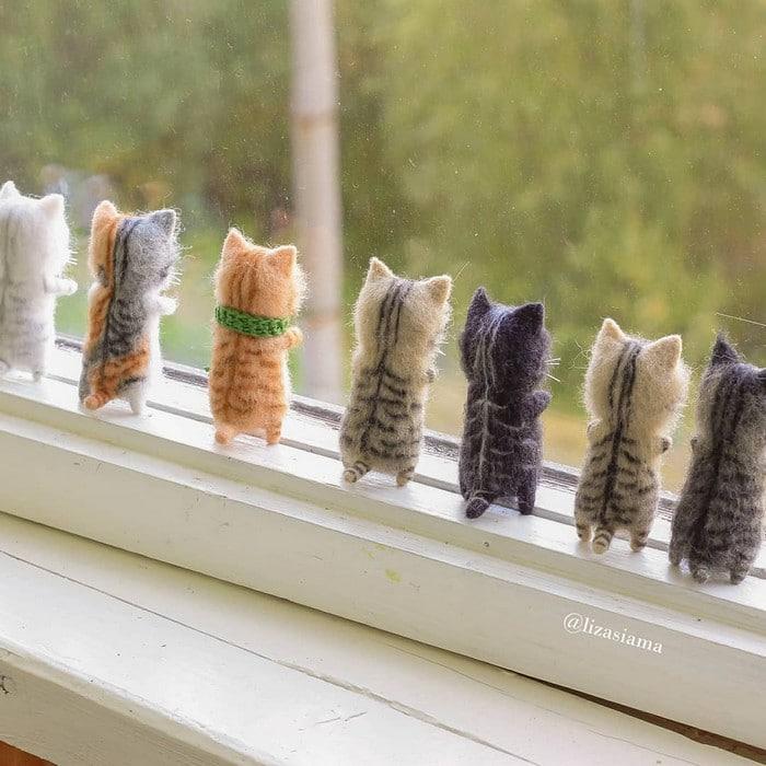 Artista russa cria gatinhos de feltro que parecem ter saído de um conto fada (32 fotos) 25