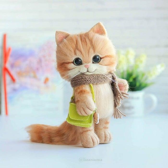 Artista russa cria gatinhos de feltro que parecem ter saído de um conto fada (32 fotos) 26