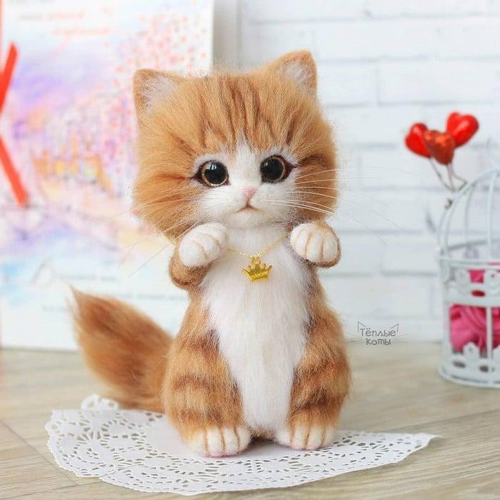 Artista russa cria gatinhos de feltro que parecem ter saído de um conto fada (32 fotos) 27