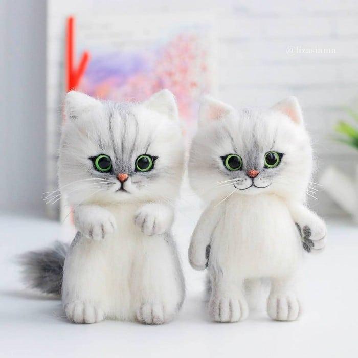 Artista russa cria gatinhos de feltro que parecem ter saído de um conto fada (32 fotos) 28