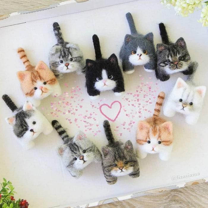 Artista russa cria gatinhos de feltro que parecem ter saído de um conto fada (32 fotos) 29