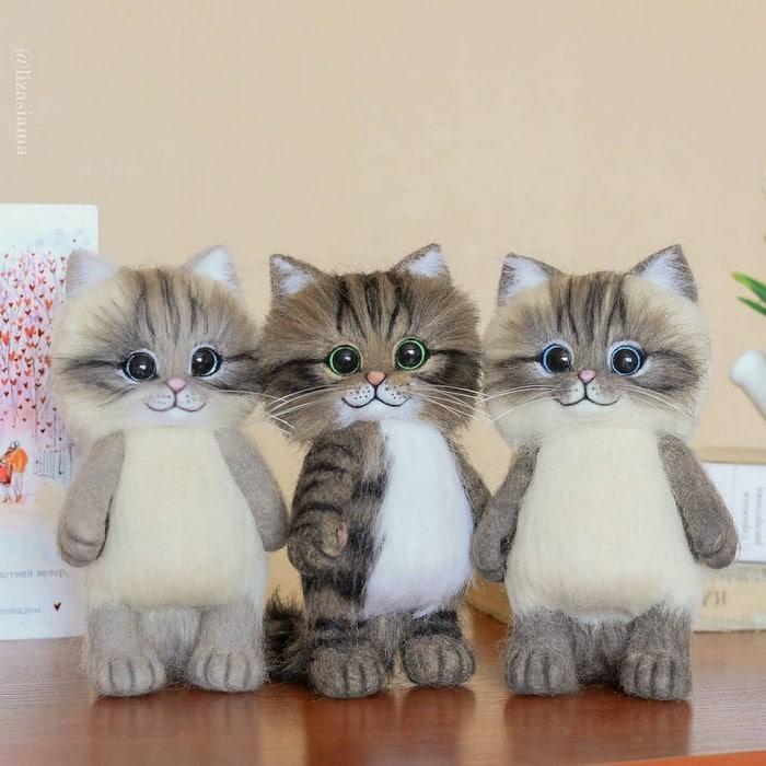 Artista russa cria gatinhos de feltro que parecem ter saído de um conto fada (32 fotos) 30