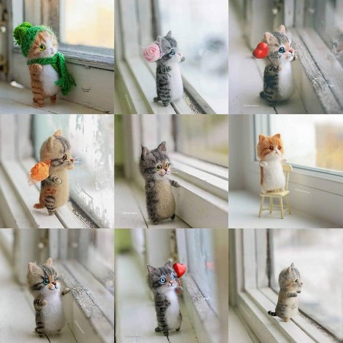 Artista russa cria gatinhos de feltro que parecem ter saído de um conto fada (32 fotos) 31