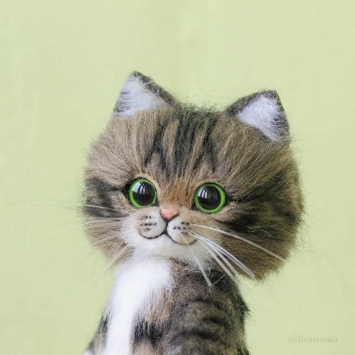 Artista russa cria gatinhos de feltro que parecem ter saído de um conto fada (32 fotos) 32