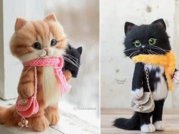 Artista russa cria gatinhos de feltro que parecem ter saído de um conto fada (32 fotos) 36
