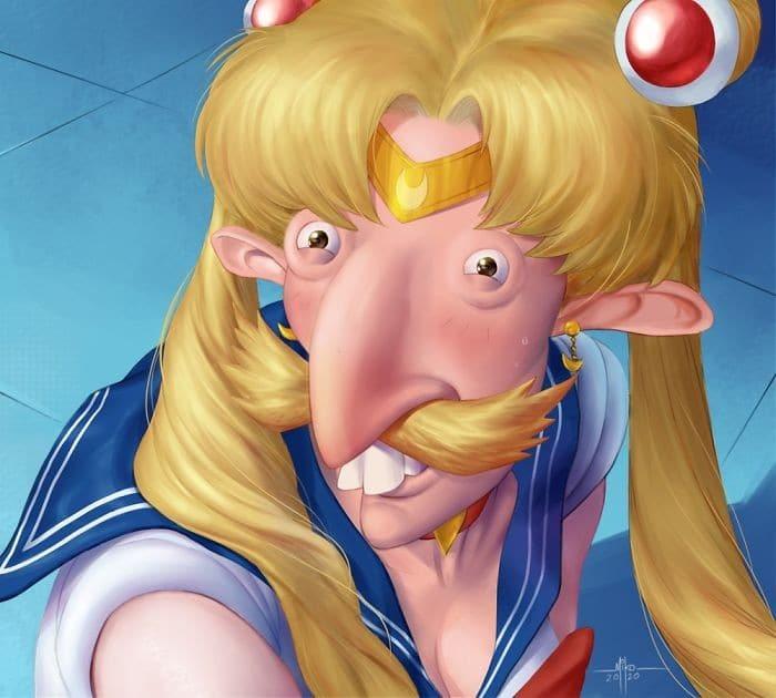 Artistas de todo o Twitter estão redesenhando Sailor Moon em seu próprio estilo (38 fotos) 19