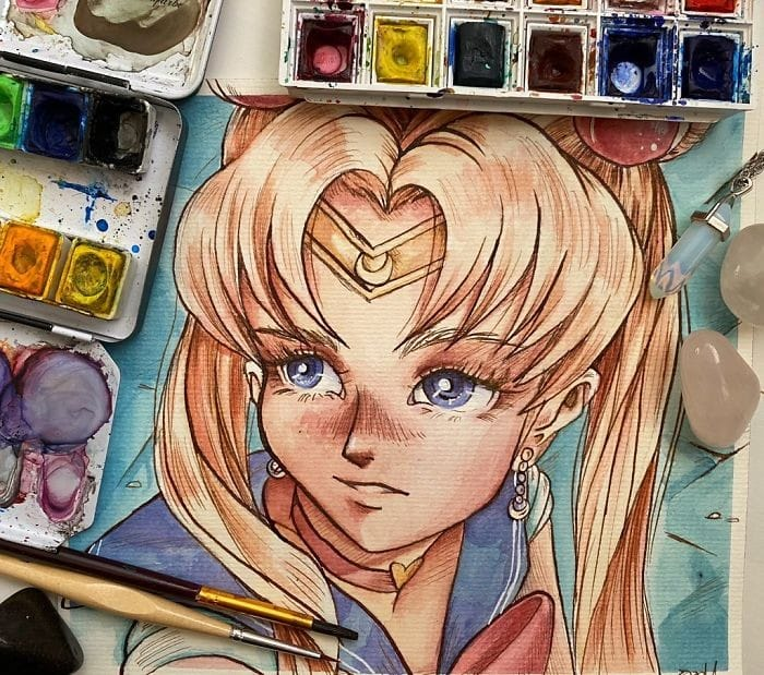 Artistas de todo o Twitter estão redesenhando Sailor Moon em seu próprio estilo (38 fotos) 31