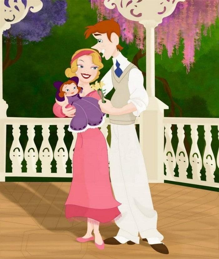 18 casais da Disney se eles tivessem filhos 3