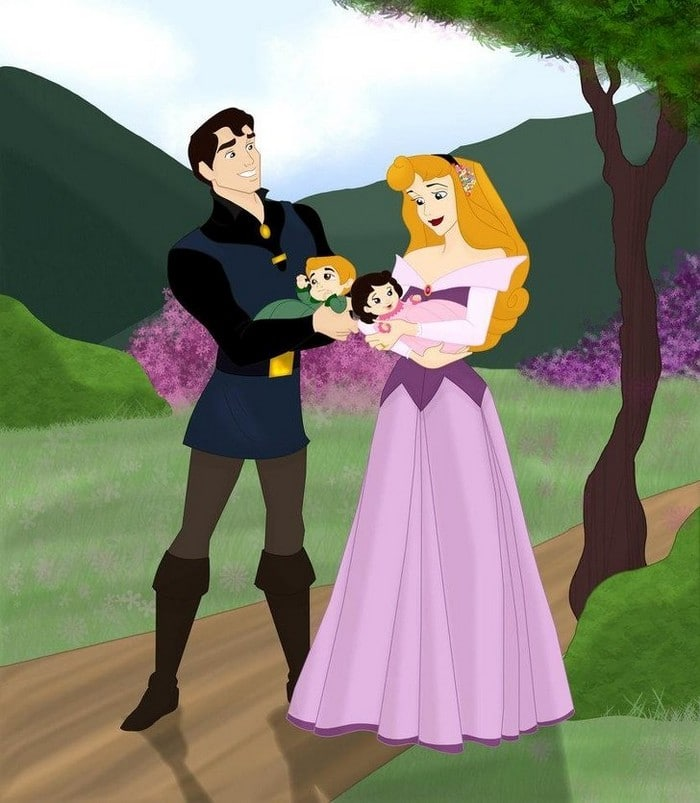 18 casais da Disney se eles tivessem filhos 6
