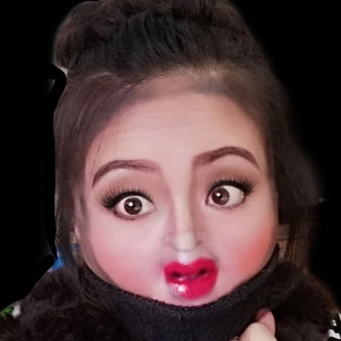Esta pequena maquiagem para o rosto é a solução perfeita para uma máscara de coronavírus (37 fotos) 7