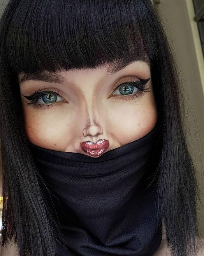 Esta pequena maquiagem para o rosto é a solução perfeita para uma máscara de coronavírus (37 fotos) 22