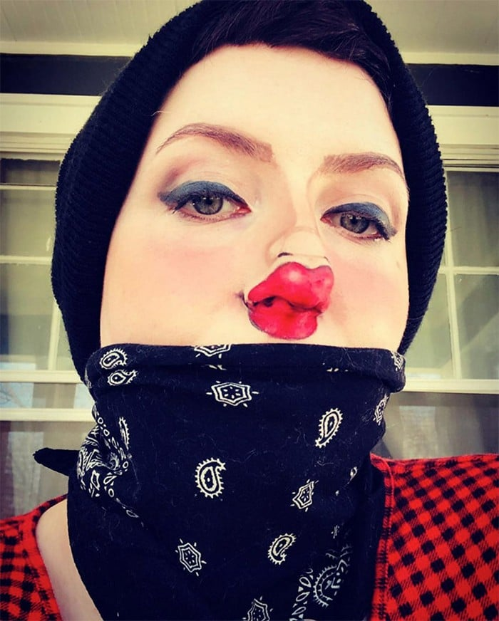 Esta pequena maquiagem para o rosto é a solução perfeita para uma máscara de coronavírus (37 fotos) 23
