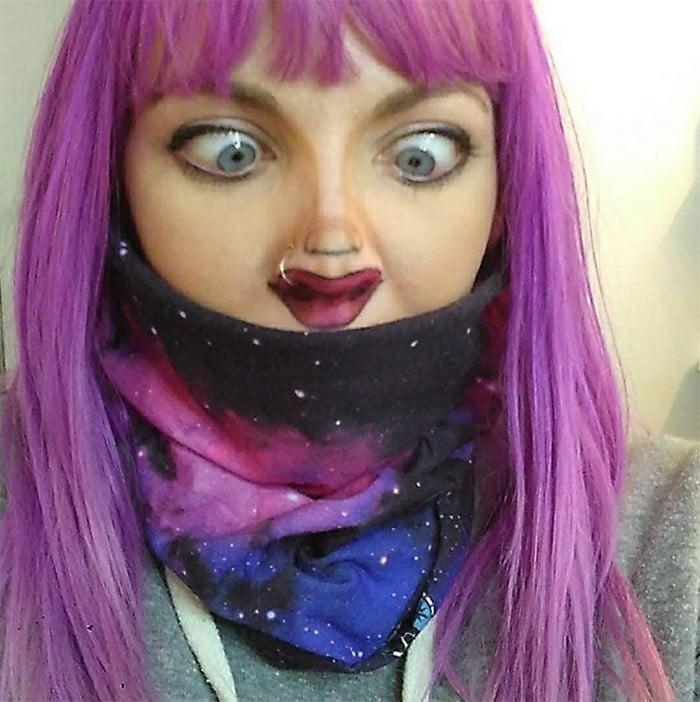 Esta pequena maquiagem para o rosto é a solução perfeita para uma máscara de coronavírus (37 fotos) 24
